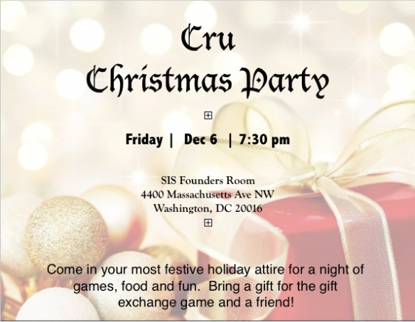 Cru 2019 Christmas Party